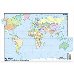Mudos de ejercicios - Mapamundi (bolsa 5 mapas físicos y 5 políticos)