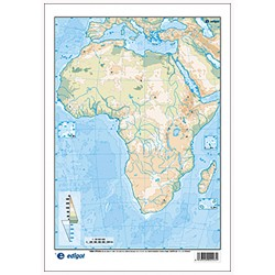 Africa outline, Physical,...