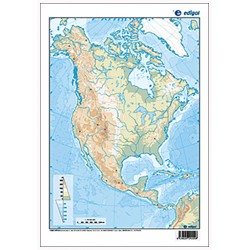 North America outline,...