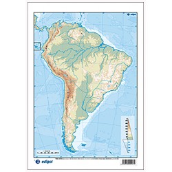 South America outline,...