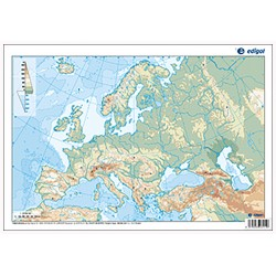 Europe outline, Physical,...