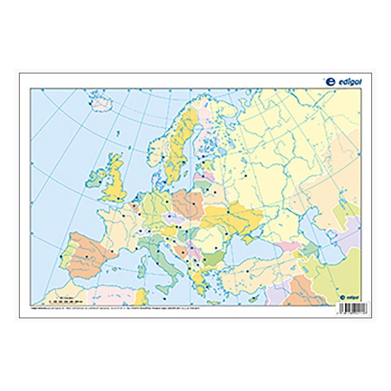 Mudos de ejercicios - Europa (bolsa 5 mapas físicos y 5 políticos)