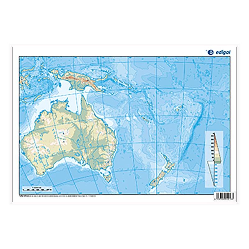 Oceania Outline Physical 22 5 X 32 Cm