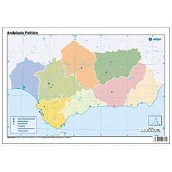 Mudos de ejercicios - Andalucía (bolsa 10 mapas físicoy 5 políticos)