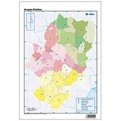 Mudos de ejercicios - Aragón (bolsa 5 mapas físicos y 5 políticos)
