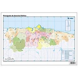 Mudos de ejercicios - Asturias (bolsa 5 mapas físicos y 5 políticos)