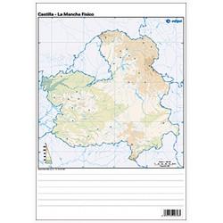 Castilla-La Mancha outline,...