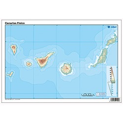 Canary Islands outline,...