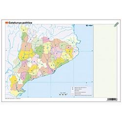 Mudos de ejercicios - Catalunya (bolsa 5 mapas físicos y 5 políticos)