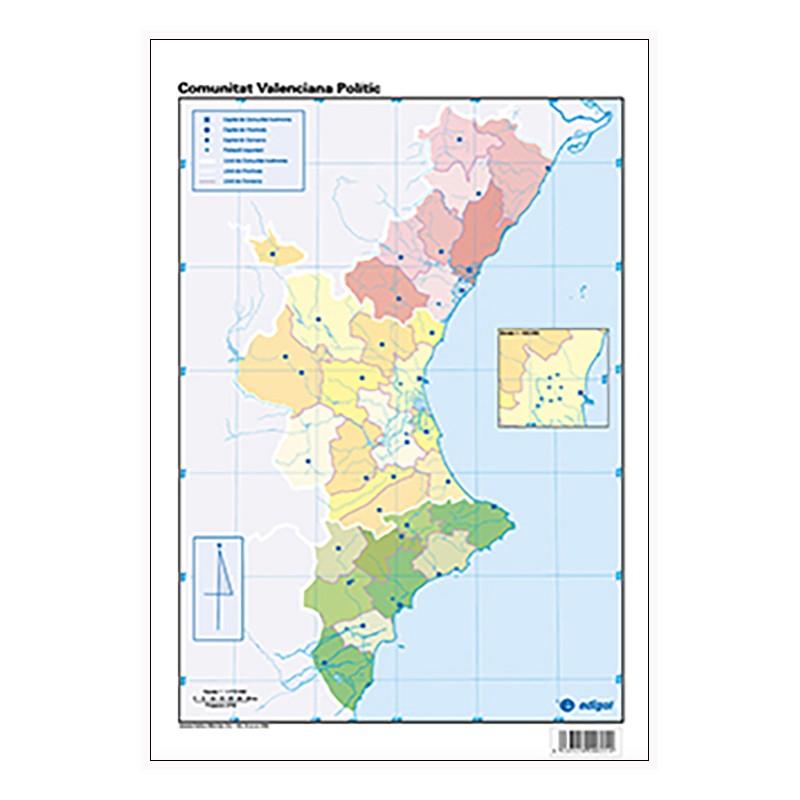 Mapa Mudo Comunidad Valenciana.Mudos De Ejercicios Comunitat Valenciana Bolsa 5 Mapas Fisicos Y 5 Politicos