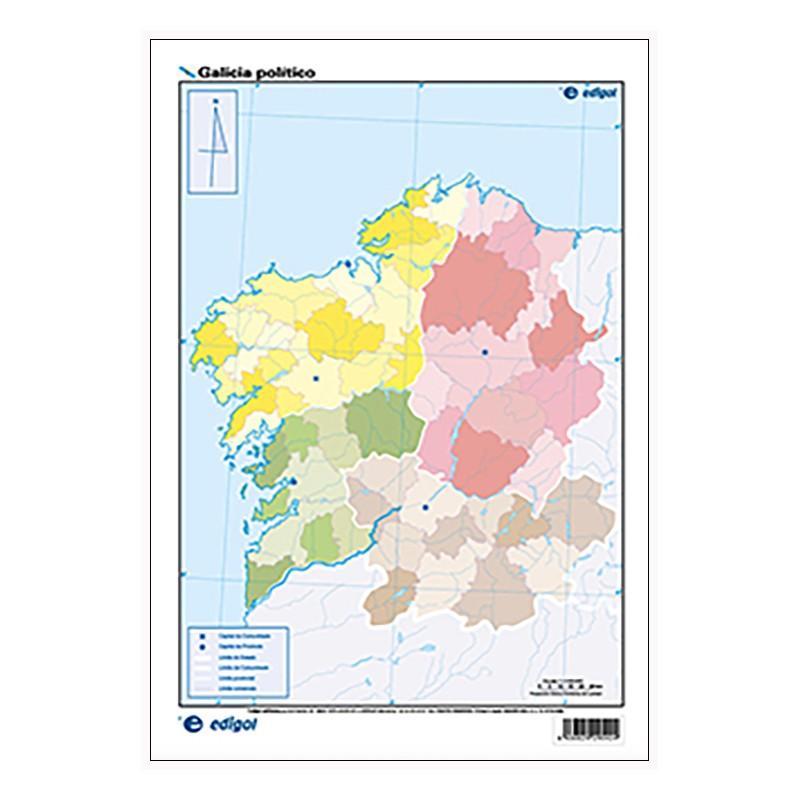Mudos de ejercicios - Galicia (bolsa 5 mapas físicos y 5 políticos)