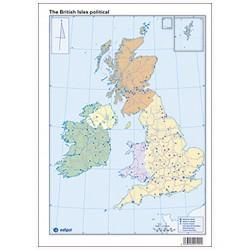 Mudos de ejercicios - British Isles (bolsa 10 mapas políticos)