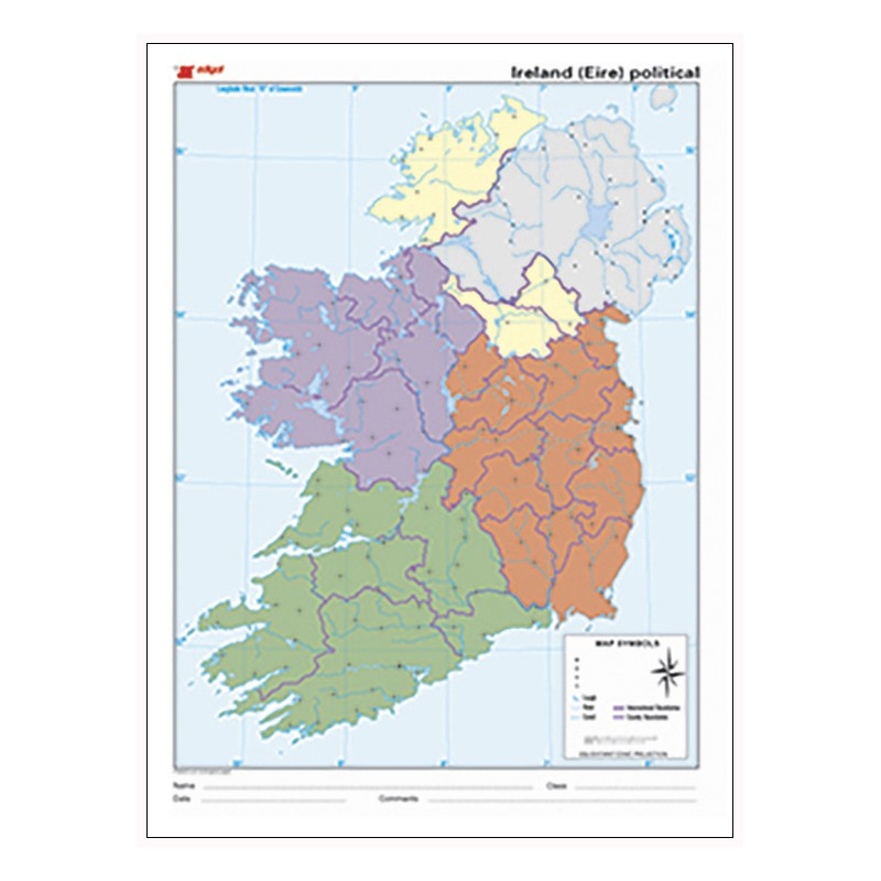 Mudos de ejercicios - Ireland (bolsa 10 mapas políticos)
