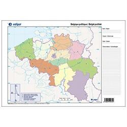 Mudos de ejercicios - Belgique (bolsa 5 mapas físicos y 5 políticos)