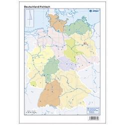 Mudos de ejercicios - Deutschland (bolsa 5 mapas físicos y 5 políticos)