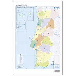 Mudos de ejercicios - Portugal (bolsa 5 mapas físicos y 5 políticos)