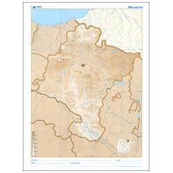 Mudos de ejercicios - Navarra (bolsa 10 mapas físico-políticos)