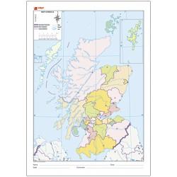 Mudos de ejercicios - Scotland (bolsa 10 mapas físico-políticos)