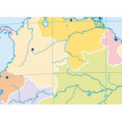Mudos de ejercicios - América del Sur (bolsa 5 mapas físicos y 5 políticos)