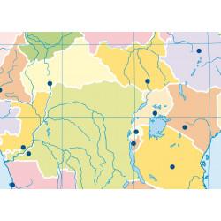 Mudos de ejercicios - África (bolsa 5 mapas físicos y 5 políticos)