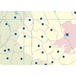 Mudos de ejercicios - Comunidad de Madrid (bolsa 5 mapas físicos y 5 políticos)