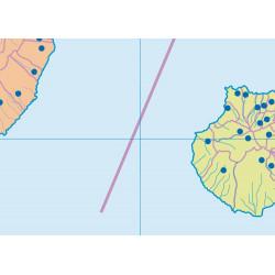 Mudos de ejercicios - Islas Canarias (bolsa 5 mapas físicos y 5 políticos)