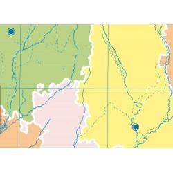 Mudos de ejercicios - Castilla y León (bolsa 5 mapas físicos y 5 políticos)