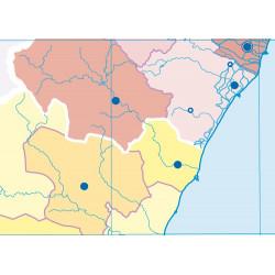 Mudos de ejercicios - Comunitat Valenciana (bolsa 5 mapas físicos y 5 políticos)