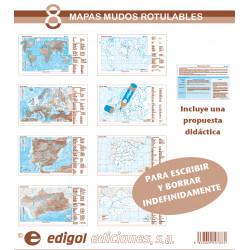 Pack de 8 mapas mudos...