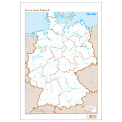 Germany outline, Political,...