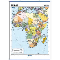Africa Wall Map - Physical / Political