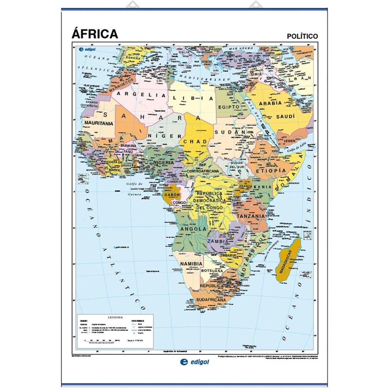 Mapa Mural de África - Físico / Político