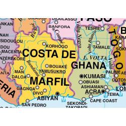 Mapa Mural de África, Físico / Político
