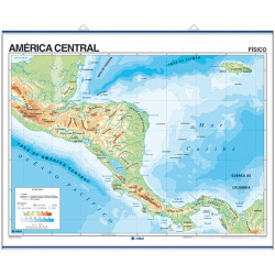 Wall map of Central America, Physical / Political