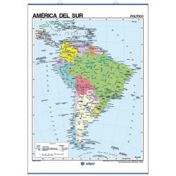 Carte murale de l'Amérique du Sud - Physique / Politique