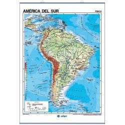 Mapa mural de América del Sur - Físico / Político