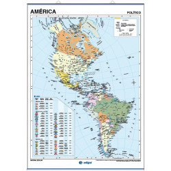 Mapa mural de América - Físico / Político