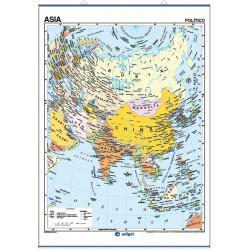 Mapa mural de Asia - Físico / Político