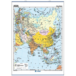 Asia  Wall Map - Physical / Political