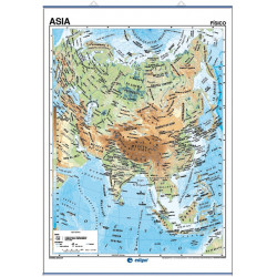 Wall map of Asia, Physical / Political