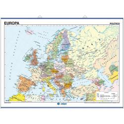 Mapa mural de Europa - Físico / Político