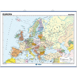 Europe Wall Map - Physical / Political