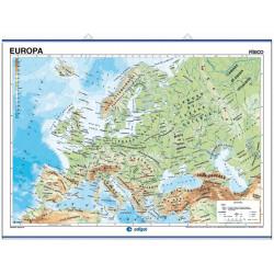 Carte murale de l'Europe - Physique / Politique
