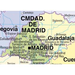 Mapa mural d'Espanya - Físic / Polític