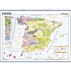 Mapa mural de España, Geológico / Climático