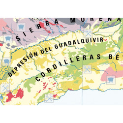Mural map of Spain, Geological / Climate