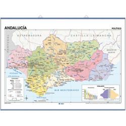 Mapa mural de Andalucía - Físico / Político