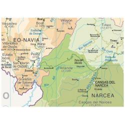 Principality of Asturias Wall Map, Physical / Political