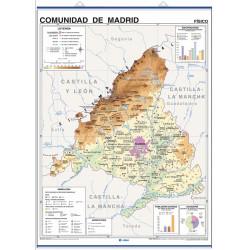 Mapa mural de la Comunidad de Madrid - Físico / Político