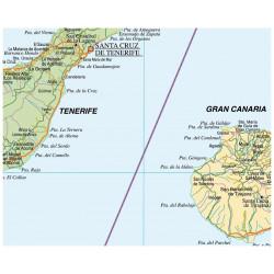Carte murale des îles Canaries - Physique / Politique
